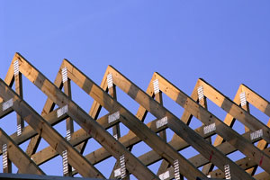 simple wood roof trusses
